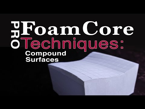 Brilliant Method for Forming Compound Surfaces with FoamCore!