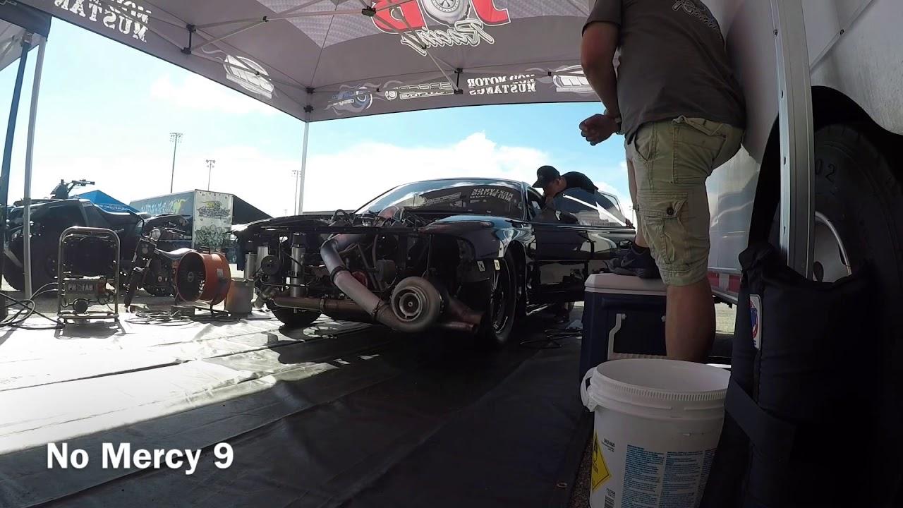 Ultra Street Q3 | 1300hp 76mm turbo mustang | No Mercy 9