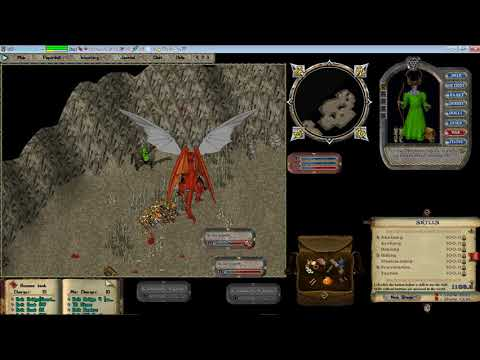 Let's Play Ultima Online Forever.  Fast Dragon Run!  Paragon Shadow Wurm.