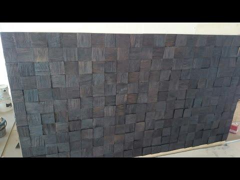 декоративное панно из отходов дерева. Украшение стен.