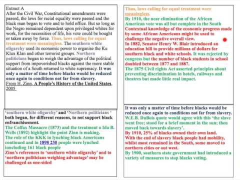 AQA AS history - HIS1K USA 1865-1920 - Source / Extract Comparison - Additional Specimen Paper