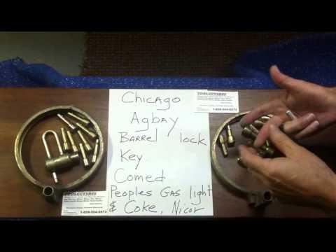 Barrel Lock Key Chicago Illinois ComEd People's Gas Light & Coke1-858-504-0573