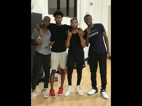 HOOPING WITH DDG AND CHRIS BROWN!!! HE ALMOST DROPPED ME!!