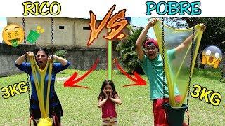 RICO VS POBRE FAZENDO AMOEBA / SLIME #8 - Anny e Eu