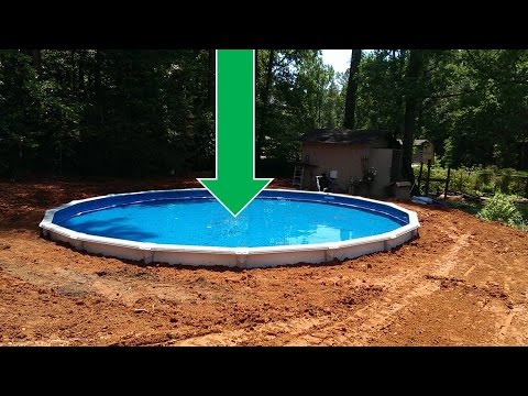 Dropping an above ground pool in the ground the details for Cheap deep pools
