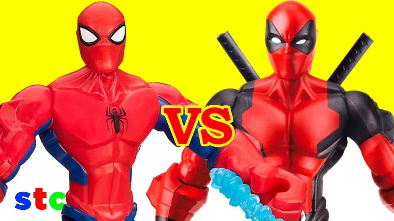 Deadpool 30 Superhéroes: Super Hero Mashers Deadpool Vs Spiderman