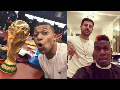 FAMOUS PLAYERS REACTION TO FRANCE WIN THE WORLD CUP 2018!
