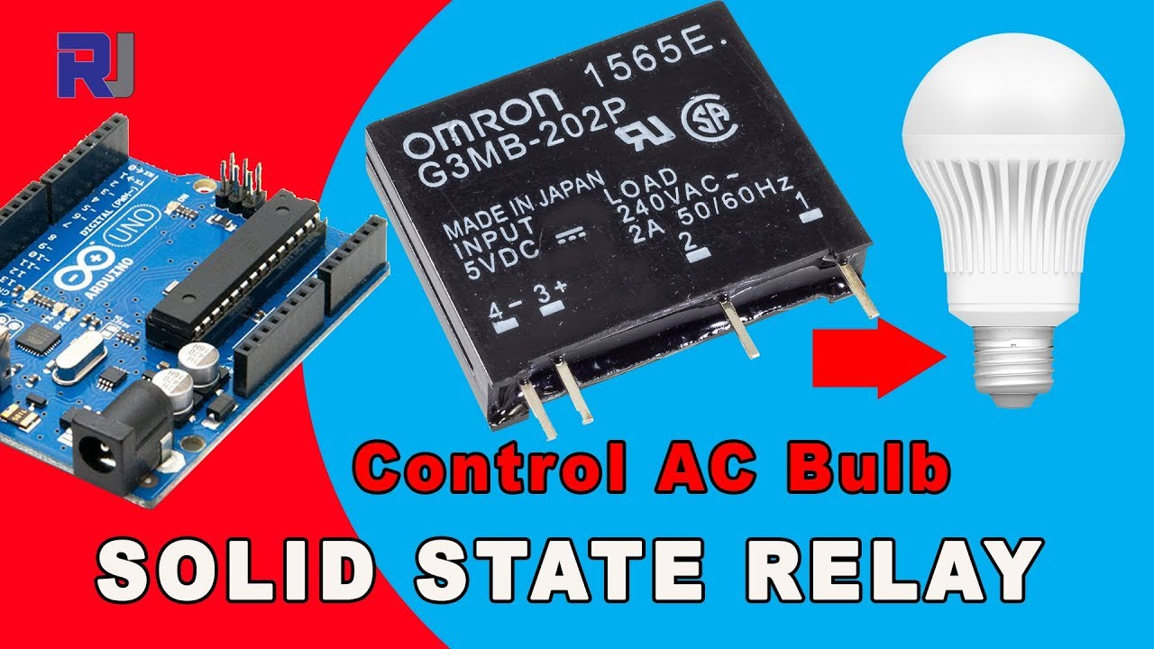 using omron g3mb solid state relay control ac load with and without arduino [ 1280 x 720 Pixel ]