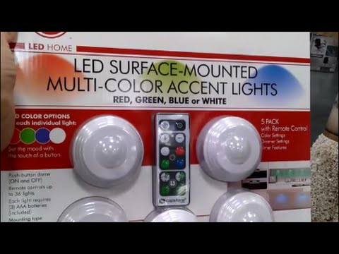 Costco Led Puck Lights Unboxing Review Installation G