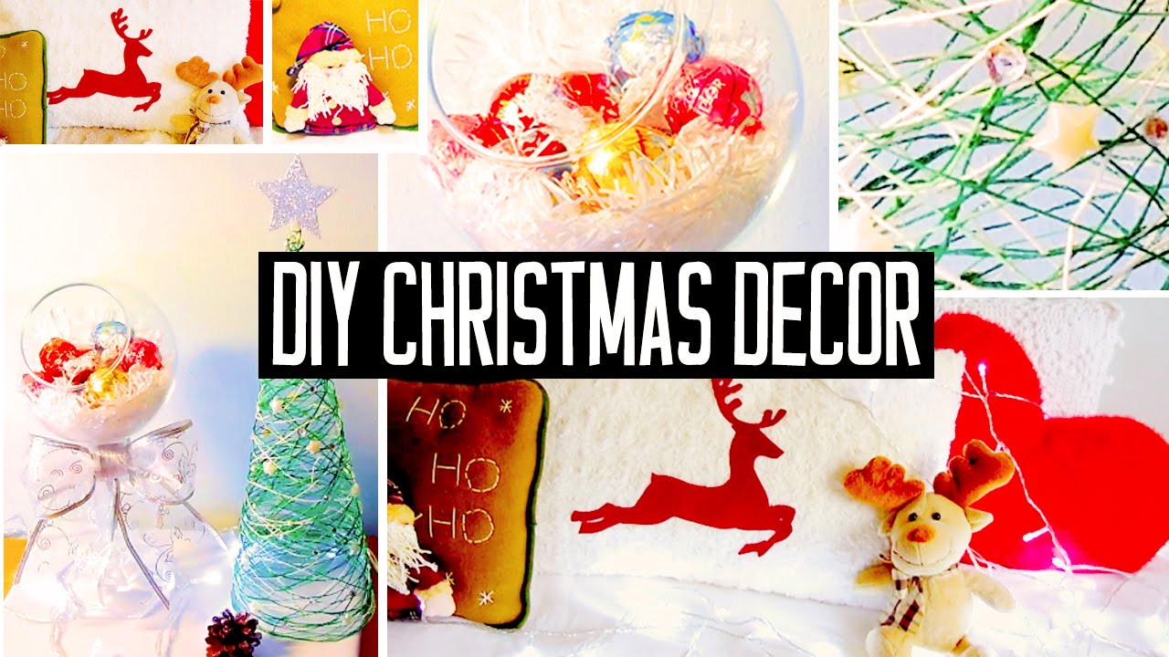 diy christmas room decorations! no-sew pillow, easy tree & more