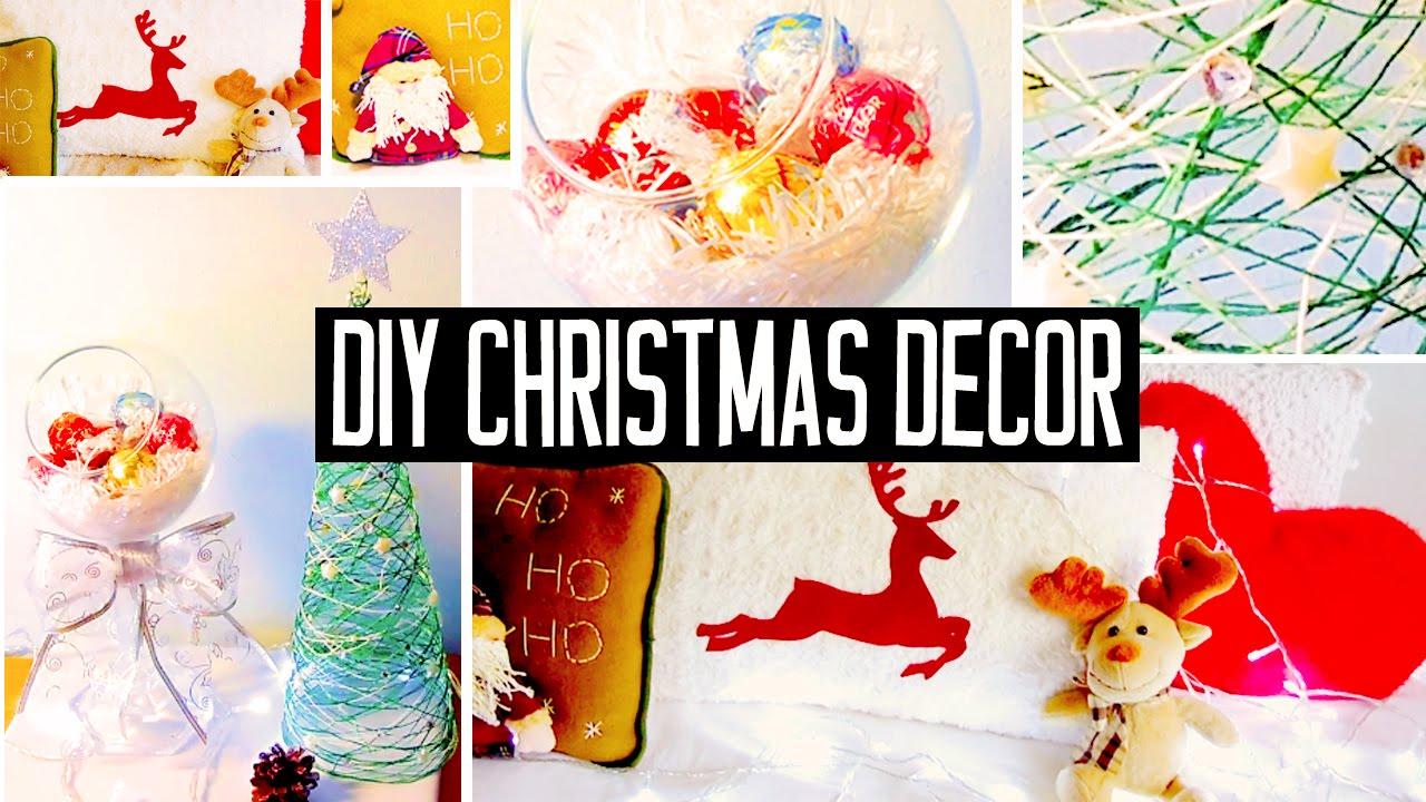 DIY Christmas Room Decorations! No-sew Pillow, Easy Tree