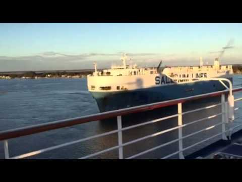 Leaving the Port of Jacksonville, Florida, Carnival Fascination