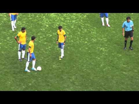 BRAZIL3 vs BELARUS1  NEYMAR FREEKICK 21 @ OLYMPICS 2012