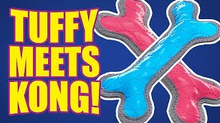 Kong and Tuffy toys in one? | DOG TOY REVIEWS | Petfactors Indestructible Rubber Bone Dog Toy