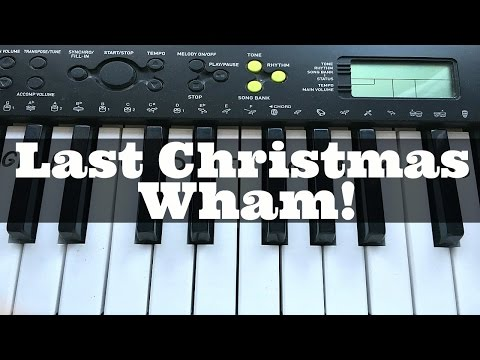 Last Christmas - Wham!  Easy Keyboard Tutorial With Notes (Right Hand)