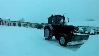 Предновогодняя расчистка снега. С новым годом!!!
