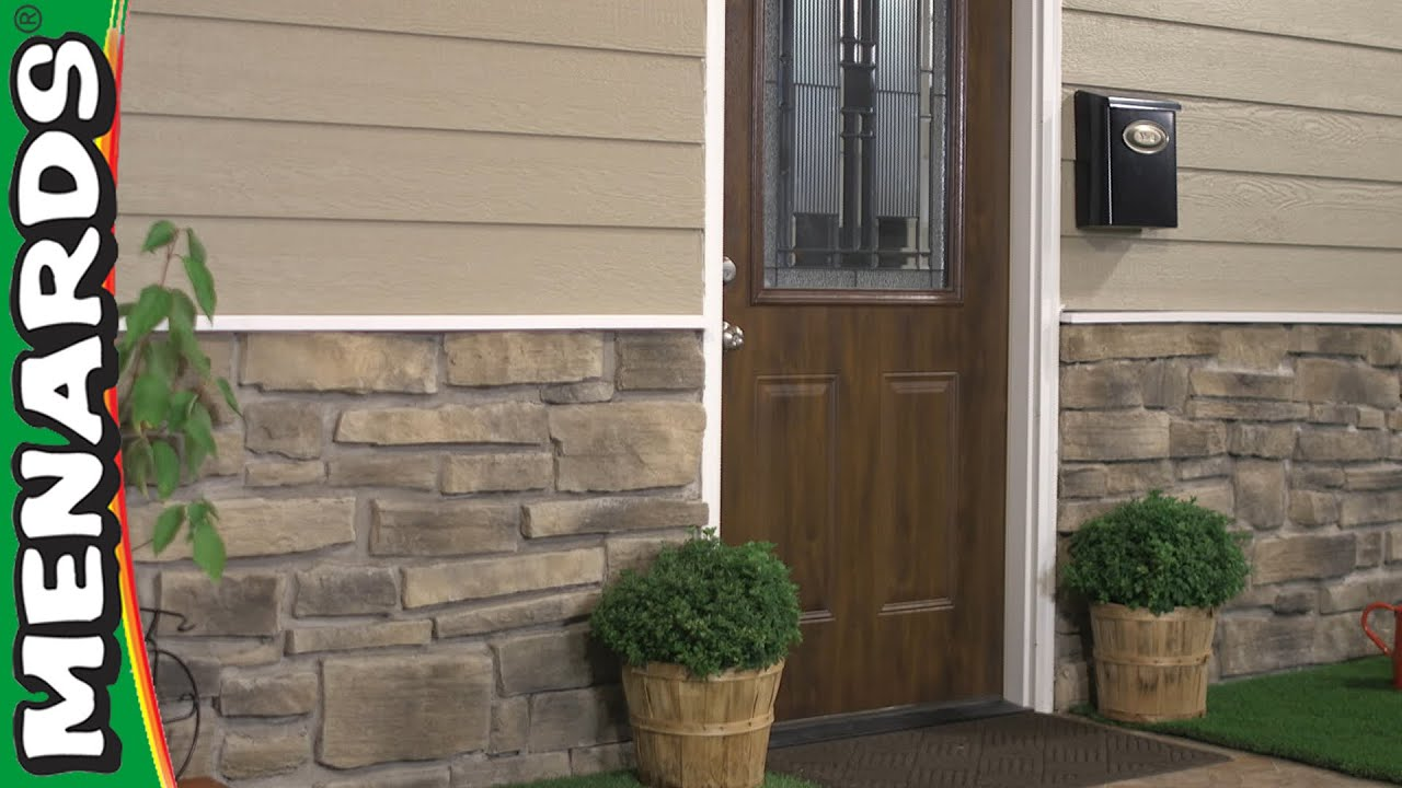 How To Install Stone Veneer Siding Menards Youtube