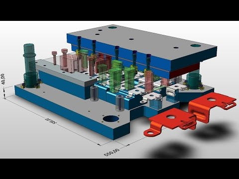 PROGRESSIVE DIE DESIGN: KeyCreator - (Tool Engaged)
