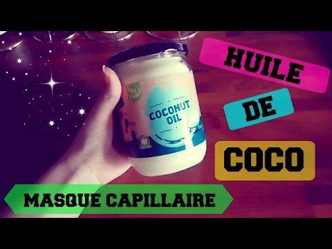 Masque capillaire à l'huile de coco / Masque cheveux secs et abîmés