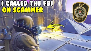 I Called The FBI on Scammer! 😱 (Scammer Gets Scammed) Fortnite Save The World
