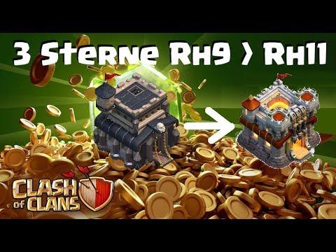 [285] Drei Sterne Rh9 auf Rh11 💯  2,4 Millionen Fight Rh9 und Rh10 1,8 Millionen   COC Deutsch