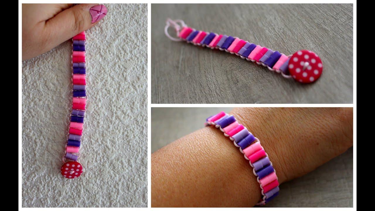 Gut gemocht DIY Bracelet : Bracelet coloré en Perles HAMA / Perles à repasser  KR45