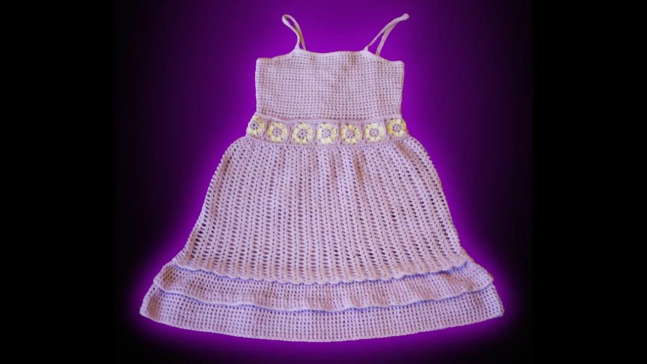 Excepcional Los Patrones De Crochet Libre Para Los Vestidos De Las ...