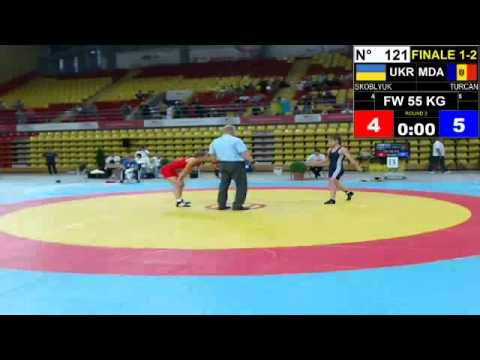 Final EJWC Skopje 2013 FW 55KG 05.07.13 1st Place And 2nd Place