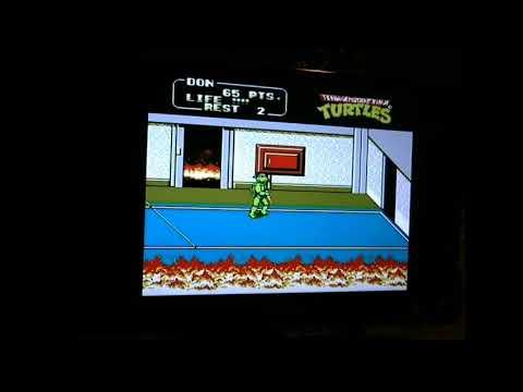 Teenage mutant Ninja Turtles II The arcade game 278 NES