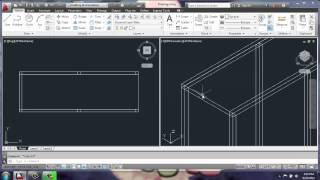 AutoCAD 2013 - 3D Modeling Basics - Adjustable Cabinet Part 1 - Brooke Godfrey