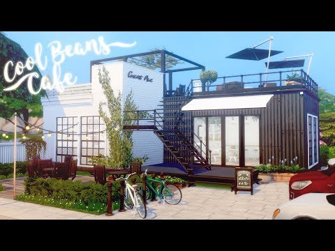 Cool Beans Café ☕️ 📚 | Pop-up Coffee Shop | The Sims 4 Discover University | Speed Build | CC Free