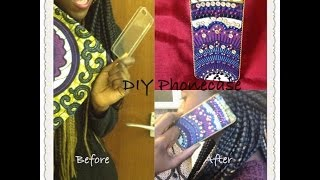 DIY: Phone case with African Ankara Fabric (Simple & Easy)