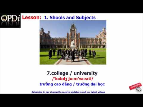 Oxford dictionary - 1. Shools and Subjects - learn English vocabulary with picture