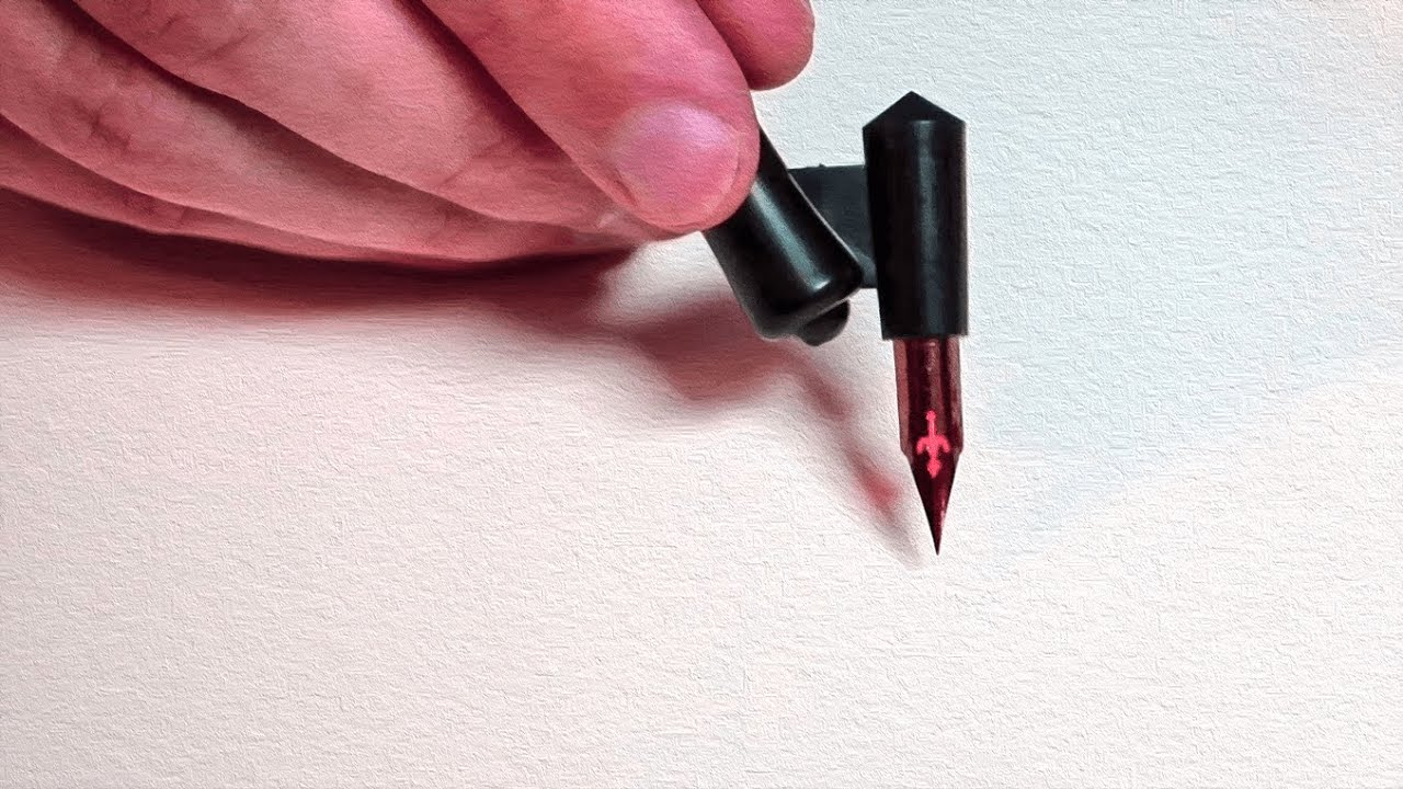 Can an Oblique Nib Holder be Used for Drawing? Plus: DRY vs. WET ink??