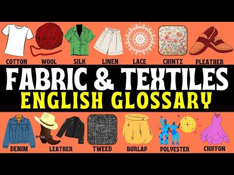 Fabrics & Textiles English Vocabulary