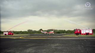WATCH: Water cannon salute for TC90 patrol planes