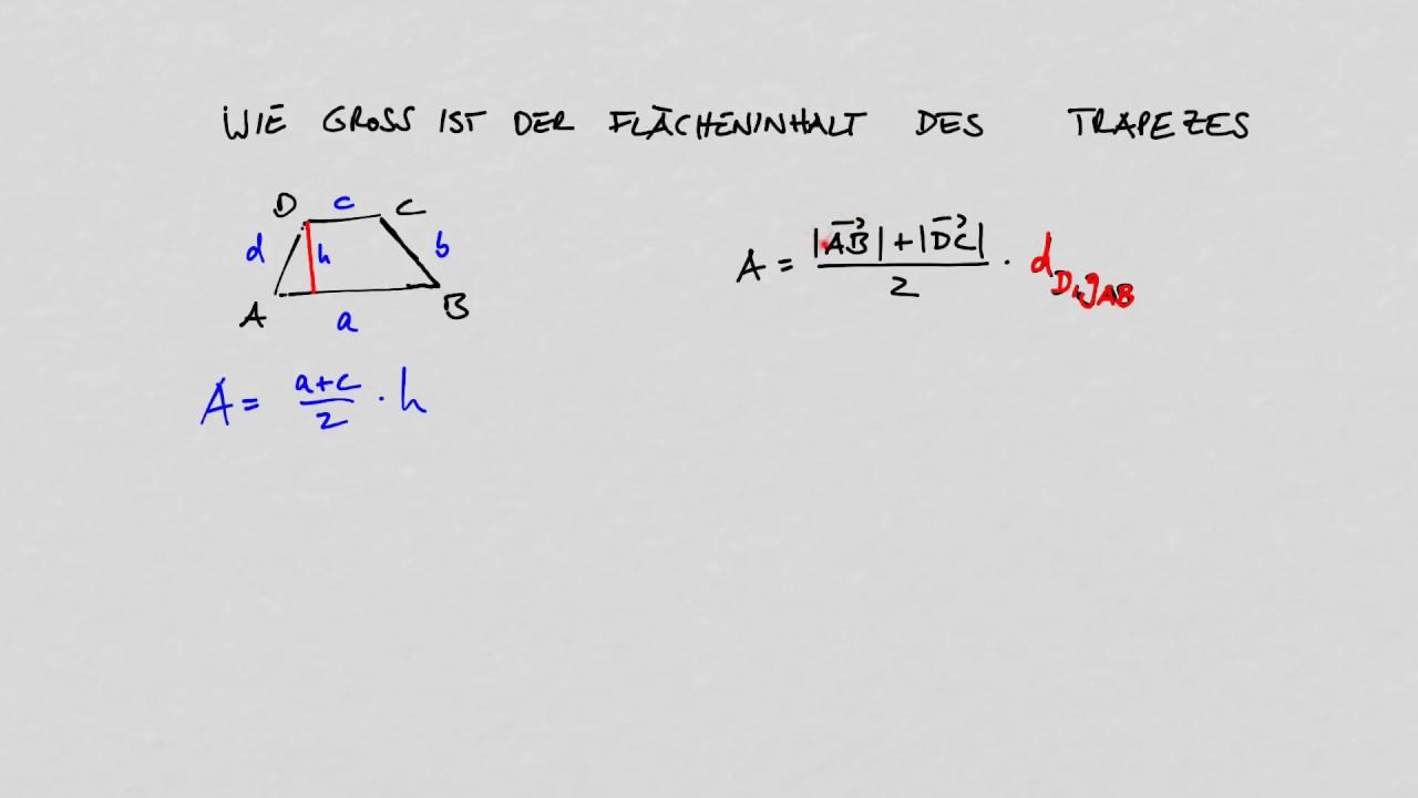 Vokabel Abitur Vektorrechnung Fläche Trapez - YouTube
