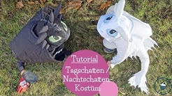 Tagschatten Nachtschatten Kostüm nähen | DIY lightfury nightfury costume | mommymade