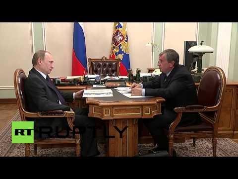 Russia: President Vladimir Putin meets Rosneft CEO Igor Sechin