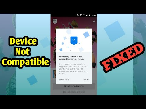 HOW TO PLAY FORTNITE ON INCOMPATIBLE ANDROID DEVICES (DEVICE NOT SUPPORTED FIXED)