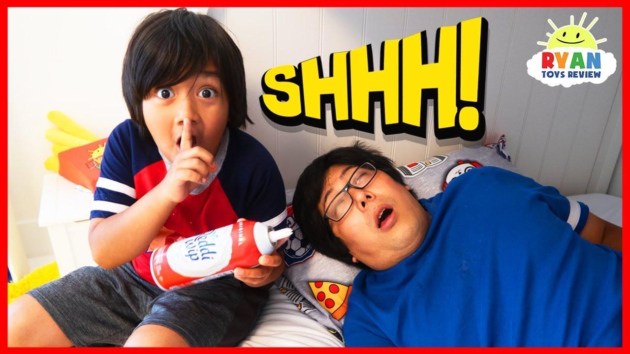 Dont Wake Daddy Challenge IRL Nickelodeon Edition!!