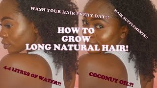 LENGTH RETENTION HOW TO GROW HAIR long NATURAL HAIR TYPE 4 3C 4A 4B /theohsospontaneous