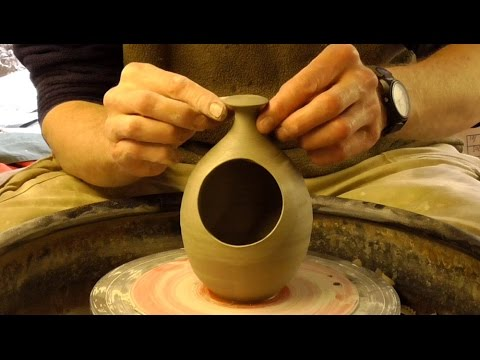 Throwing Making A Simple Pottery Salt Pot On The Wheel Youtube