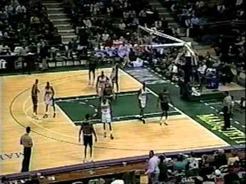 95/96 Chicago Bulls vs Milwaukee Bucks (09.12.1995) - Offensive show!!