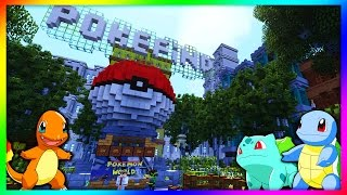 POKEMON GO IN VANILLA MINECRAFT | Pokefind Pokemon World Episode 1 | Minecraft Pokemon Public Server