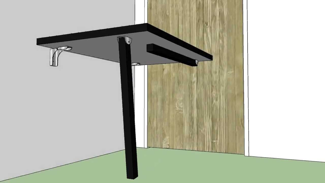 Mesa Fixa Parede ~ Projeto Mesa de Parede Dobravel Mesa de Desenho Técnico YouTube