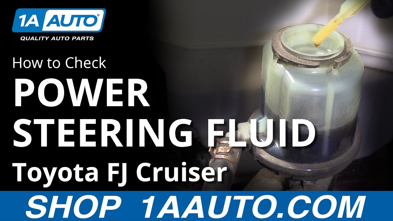 Check Power Steering Fluid >> How To Check Power Steering Fluid 07 14 Toyota Fj Cruiser