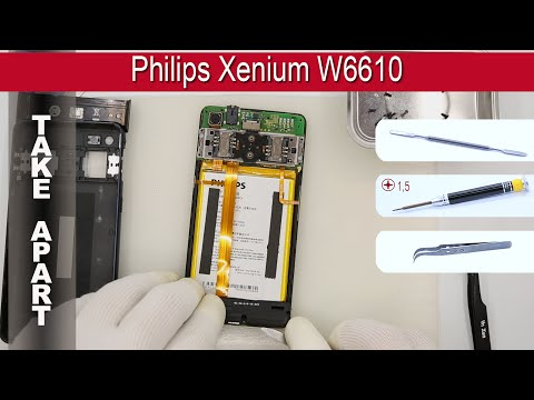 How to disassemble 📱 Philips Xenium W6610 Take apart Tutorial