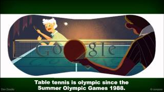 Olympics London 2012   Table Tennis Google Doodle