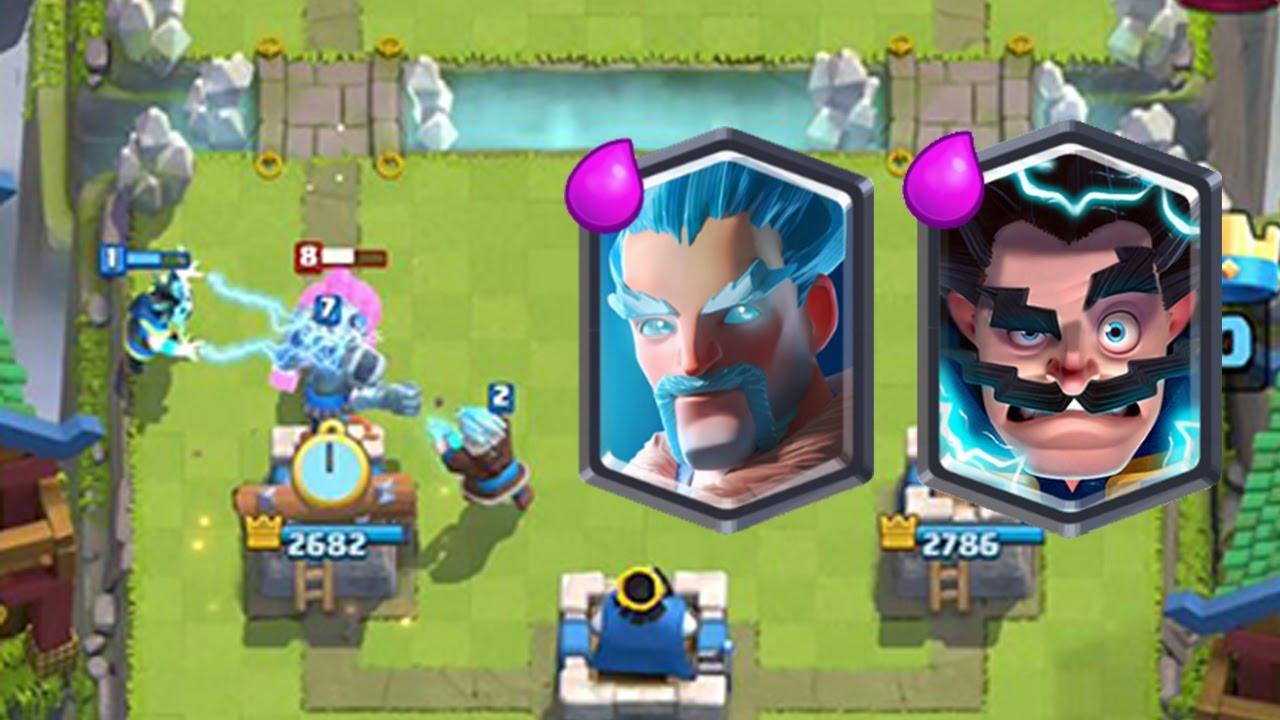 clash royale the wizard deck electro wizard